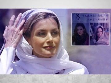 La reina Letizia se convierte en modelo de pañuelos en China