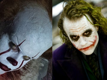Bill Skarsgård como Pennywise y Heath Ledger como el Joker