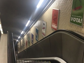Campaña en el Metro