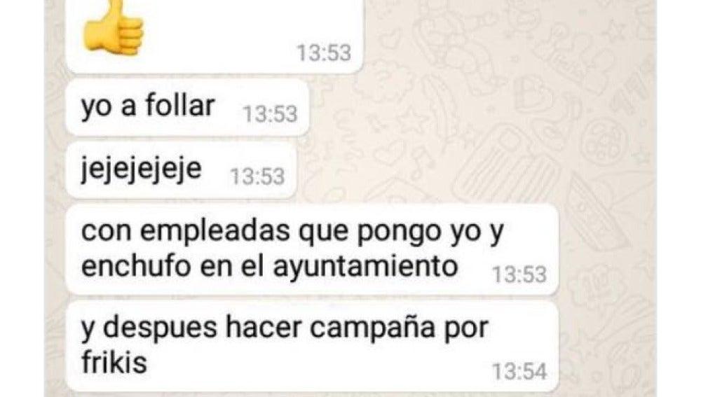 El mensaje del concejal del PSOE