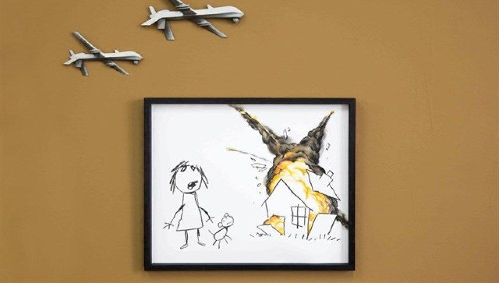 Obra de Banksy contra las armas