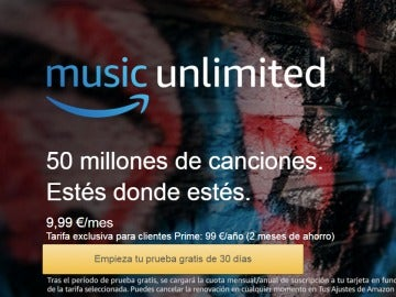 Amazon competirá con Spotify