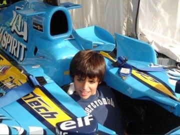 Carlos Sainz de pequeño