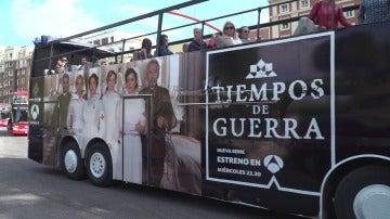 El autobús de 'Tiempos de guerra' recorre Madrid
