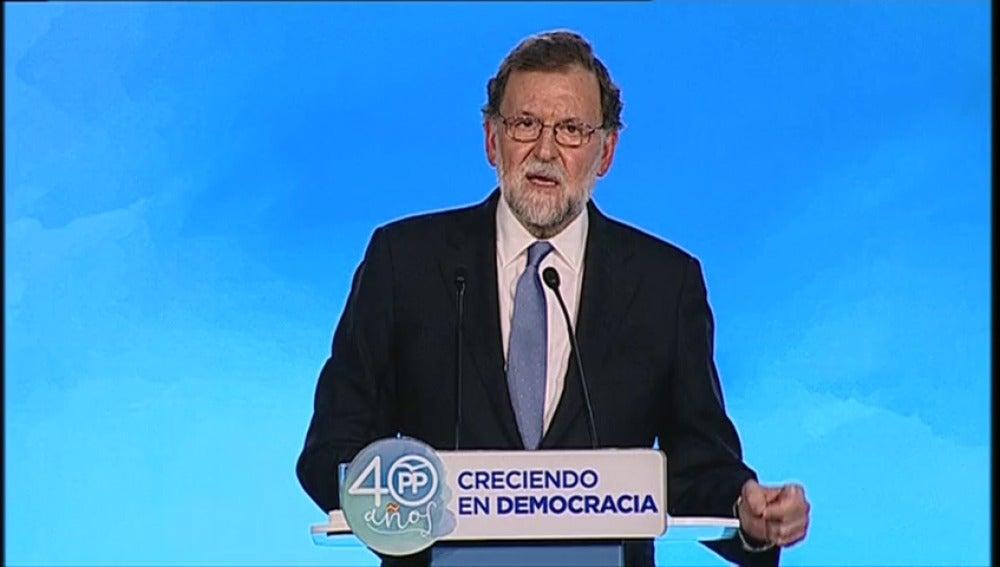 """Rajoy avisa a los independentistas: """"No subestimen la fuerza de la democracia española"""""""