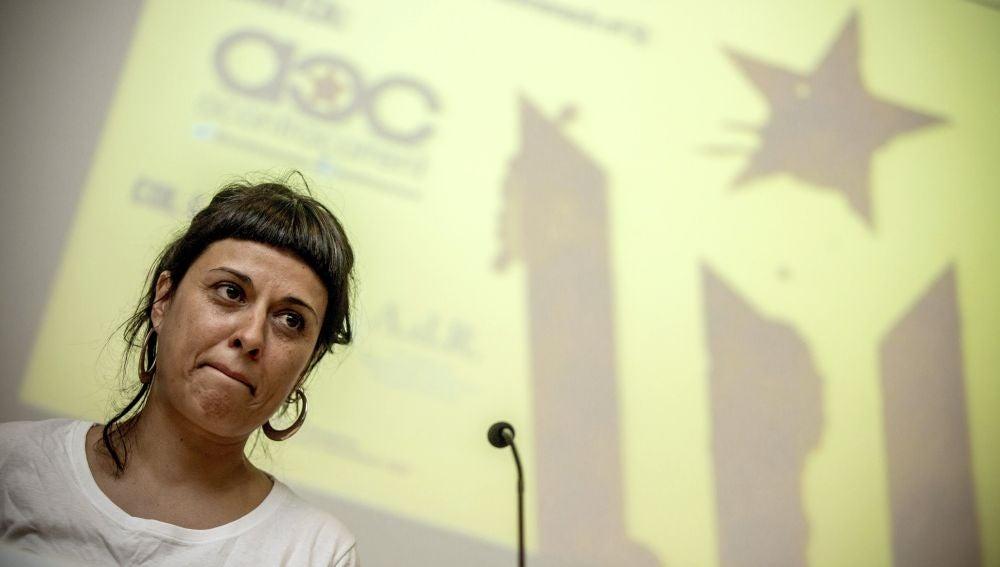 La exdiputada de la CUP Anna Gabriel