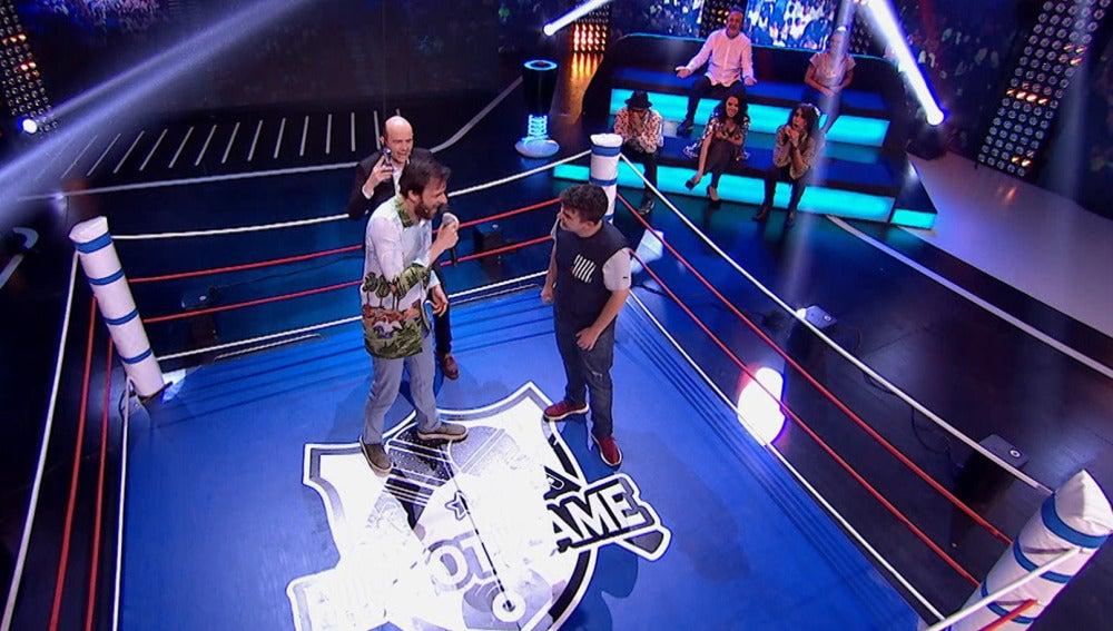 Edu Soto se enfrenta a Arkano en una batalla de gallos muy reñida