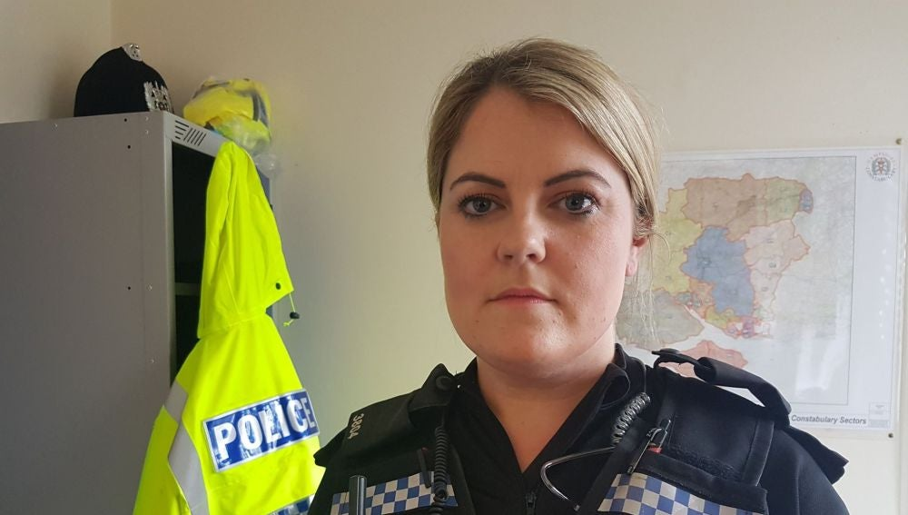 Agente de Policía que fue atacada