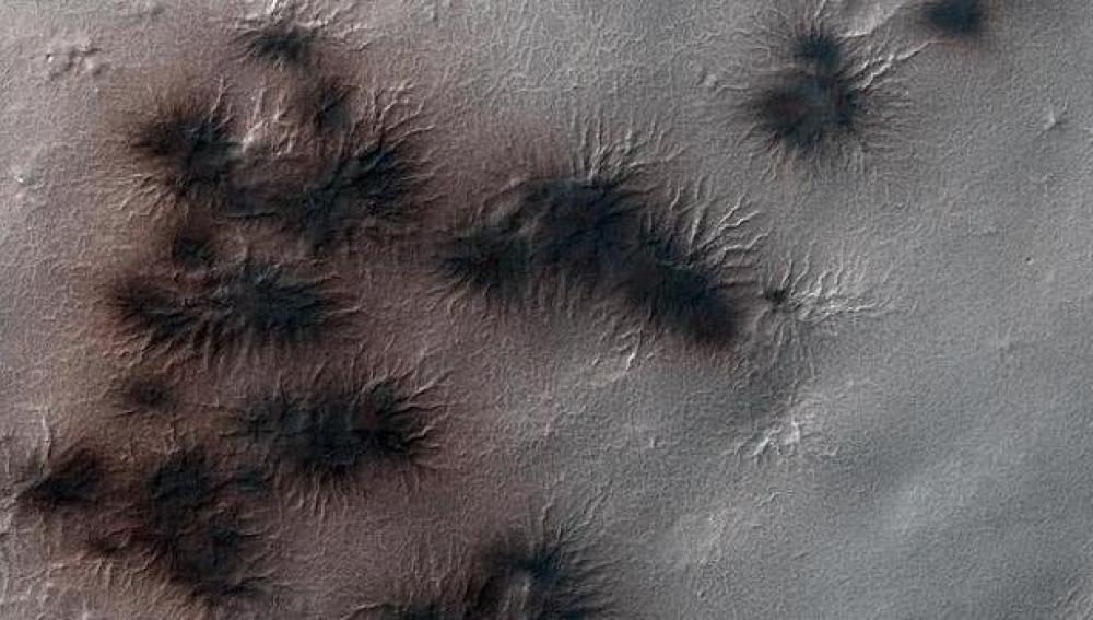 'Arañas' en Marte