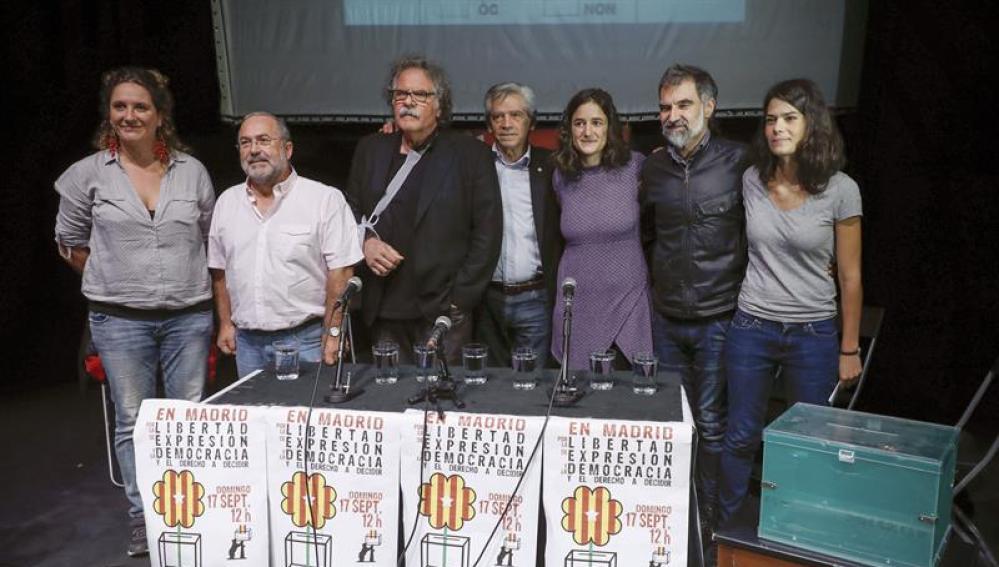 Joan Tardá durante el acto a favor del referéndum