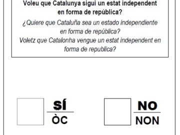 Papeleta del referéndum 1-O