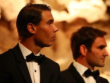 Rafa Nadal, junto a Roger Federer