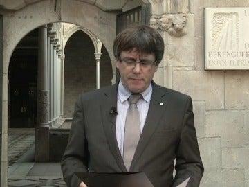 """Puigdemont: """"El 1 de octubre se hará el referéndum de autodeterminación que tenemos convocado"""""""