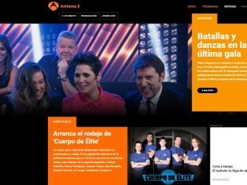antena3.com, la web de televisión líder