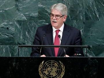 Alfonso Dastis, ministro de Exteriores, ante la ONU
