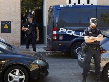 Dispositivo de detención del yihadista en Mérida