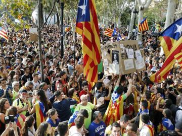 Concentración frente al Palacio de Justicia de Barcelona,