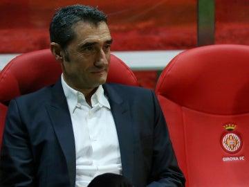 Ernesto Valverde, en el banquillo del Girona