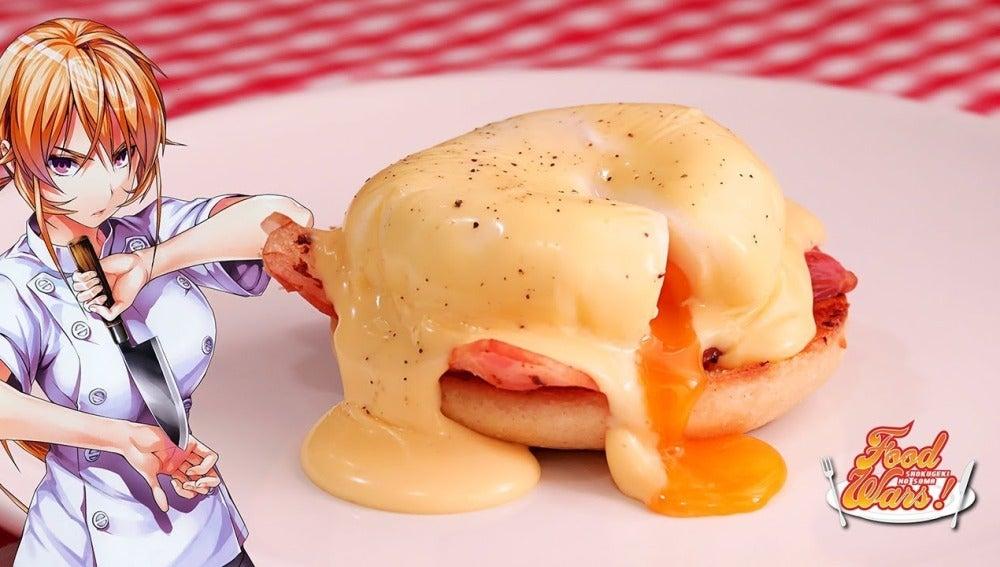 Huevos Benedict de Shokugeki no Sōma