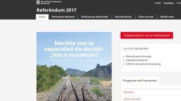 Página de información de la Generalitat