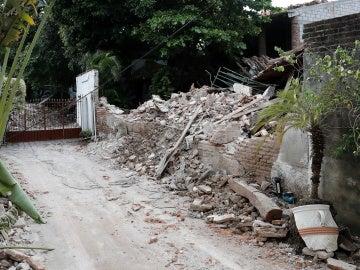 Vista del interior de una de las casas colapsadas por el sismo registrado el pasado 7 de septiembre