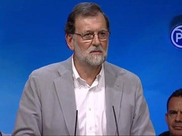 Mariano Rajoy, en la reunión con los presidentes provinciales del PP