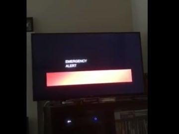 Una de las televisiones afectadas por la interrumpción