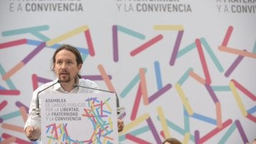Pablo Iglesias en un acto en Zaragoza