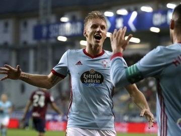 Wass celebra su gol contra el Eibar