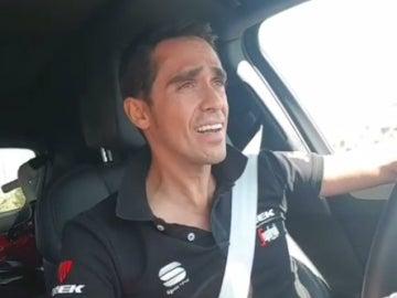 Alberto Contador, en su coche