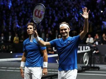 Federer, junto a Nadal