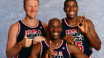Larry Bird, Michael Jordan y Magic Johnson, los tres pilares del Dream Team