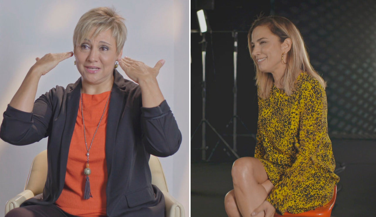 El look ochentero de Gloria Serra y Toni Acosta