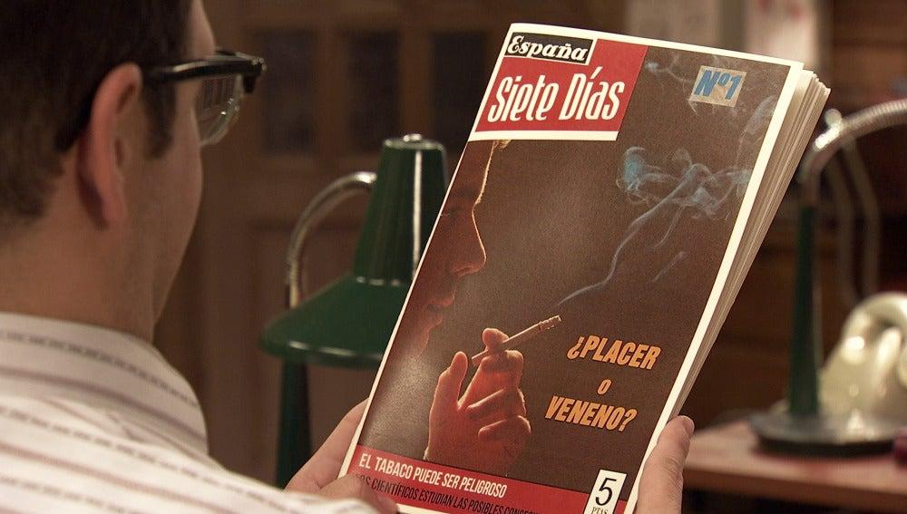Desubre el primer número del semanario 'España-Siete Días'