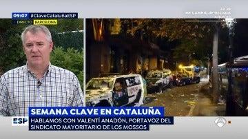 """El portavoz de los Mossos: """"No veríamos con buenos ojos una intervención"""""""