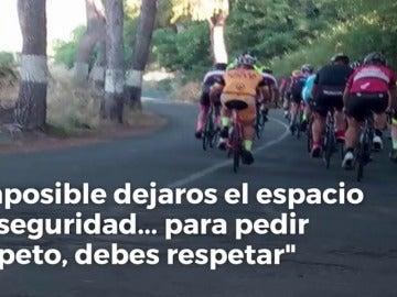 """Un conductor explota contra un grupo de ciclistas: """"Para pedir respeto antes debes respetar"""""""