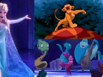 Personajes Disney dándolo todo