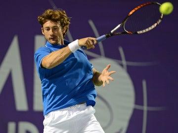 Juan Carlos Ferrero durante un partido de tenis
