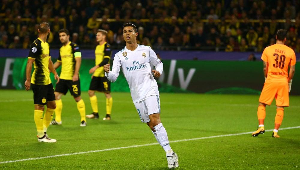 Cristiano Ronaldo celebra el gol