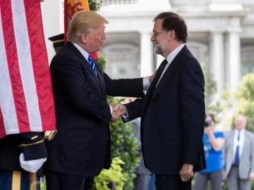 Donald Trump recibe a Mariano Rajoy en la Casa Blanca