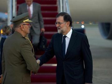 Mariano Rajoy, a su llegada a Washington