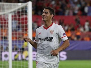 Ben Yedder celebra su gol contra el Maribor