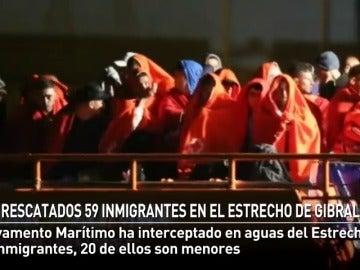 Salvamento Marítimo rescata a 59 inmigrantes en el Estrecho de Gibraltar