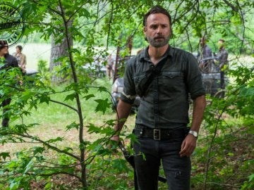 Andrew Lincoln en la octava temporada de 'The Walking Dead'