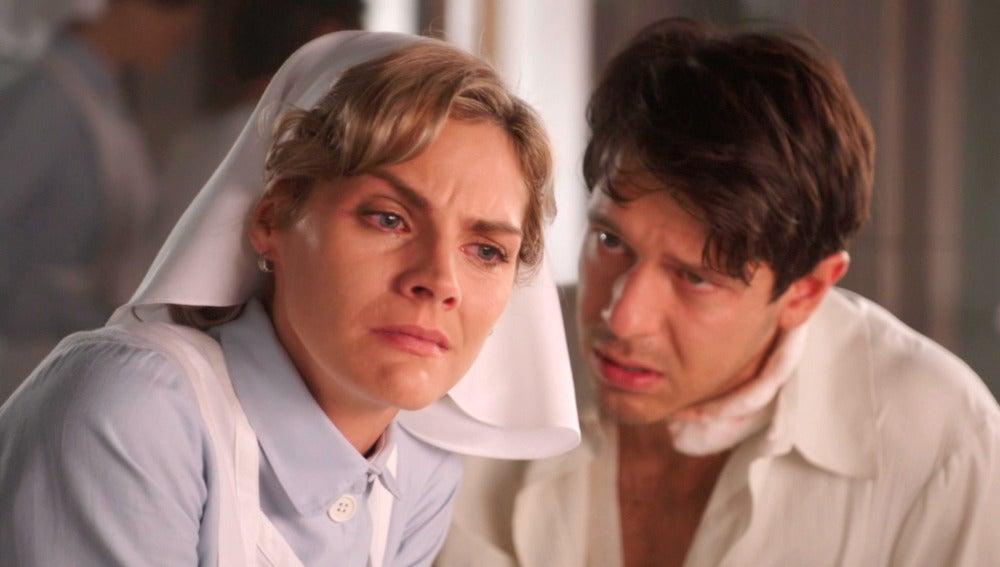 Pedro confiesa a Julia el deseo de Andrés antes de morir