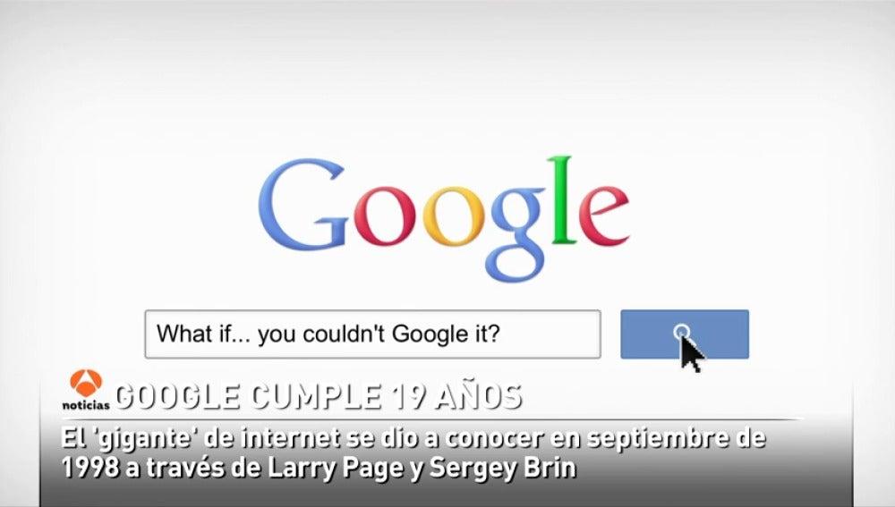 Google cumple 19 años