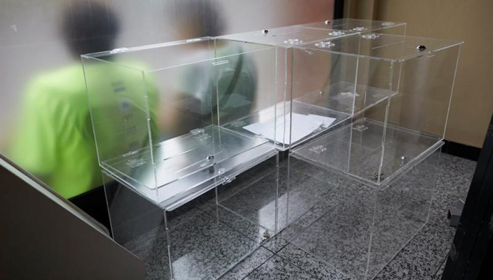 Urnas destinadas al referéndum del 1-O