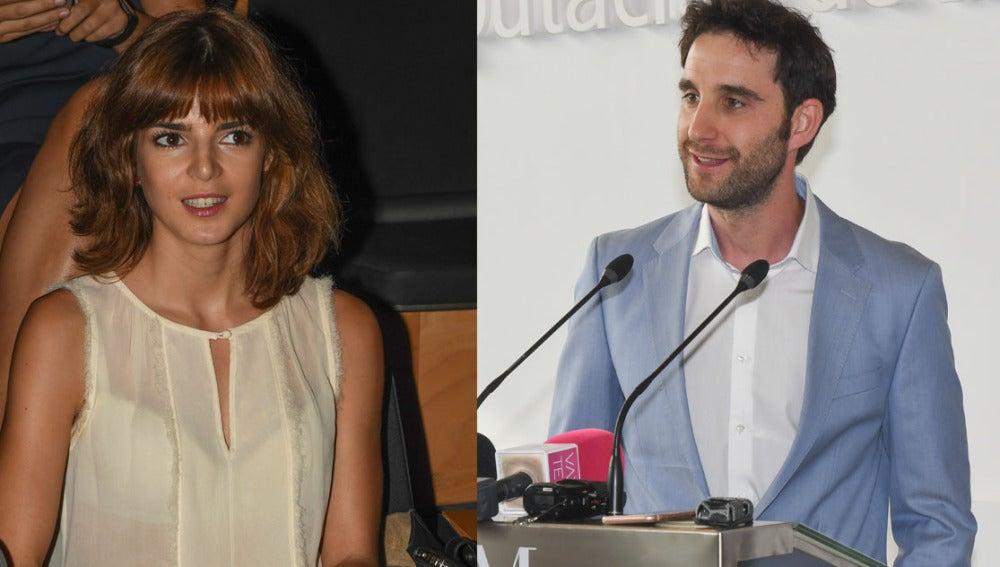 Clara Lago y Dani Rovira durante el discurso del actor