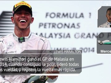 Lewis Hamilton, en Malasia