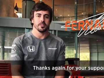 Fernando Alonso, en un vídeo de McLaren